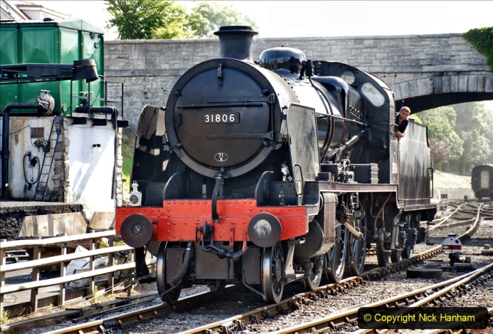 2020-07-18 First Steam Trains in Purbeck since Lockdown with U 31806. (77) 077