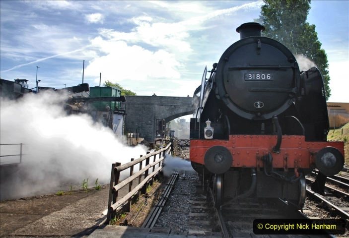 2020-07-18 First Steam Trains in Purbeck since Lockdown with U 31806. (78) Blowdown. 078