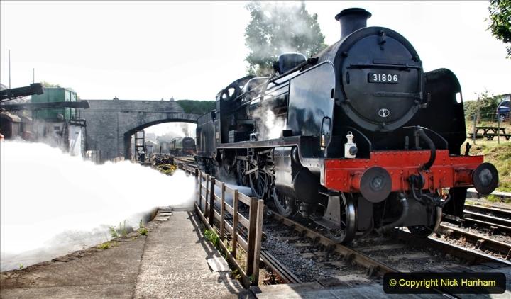 2020-07-18 First Steam Trains in Purbeck since Lockdown with U 31806. (80) Blowdown. 080