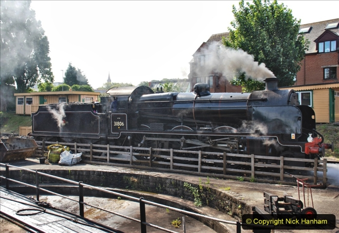 2020-07-18 First Steam Trains in Purbeck since Lockdown with U 31806. (81) 081