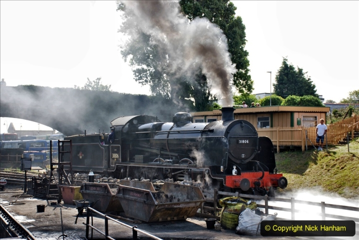 2020-07-18 First Steam Trains in Purbeck since Lockdown with U 31806. (83) 083