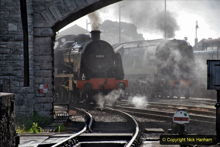 2020-07-18 First Steam Trains in Purbeck since Lockdown with U 31806. (84) 084