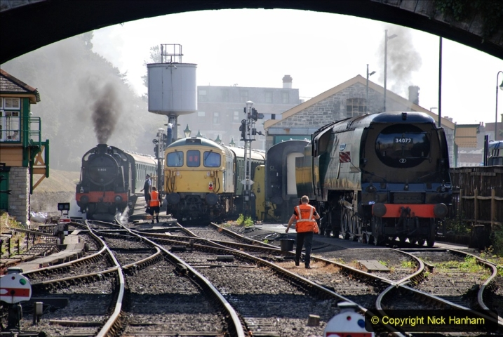 2020-07-18 First Steam Trains in Purbeck since Lockdown with U 31806. (85) 085