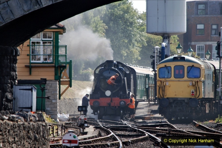 2020-07-18 First Steam Trains in Purbeck since Lockdown with U 31806. (87) 087