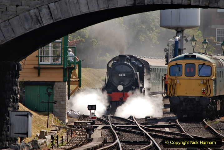 2020-07-18 First Steam Trains in Purbeck since Lockdown with U 31806. (92) 092