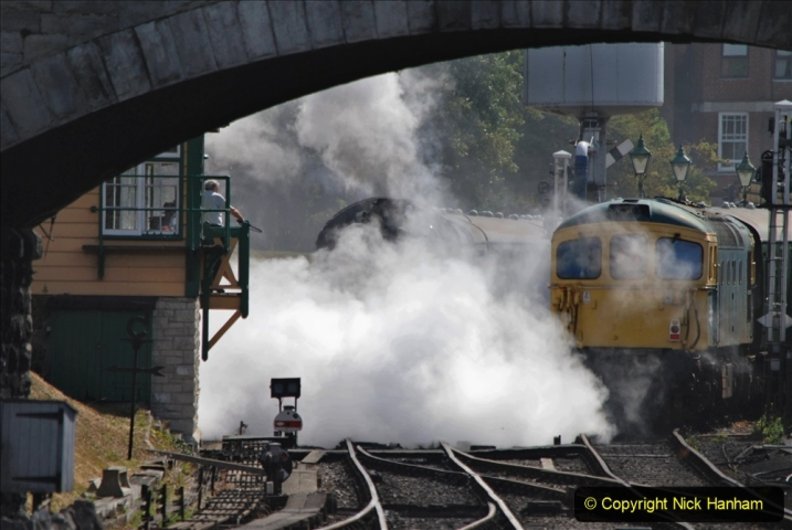 2020-07-18 First Steam Trains in Purbeck since Lockdown with U 31806. (93) 093