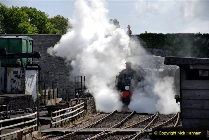 2020-07-18 First Steam Trains in Purbeck since Lockdown with U 31806. (96) 096