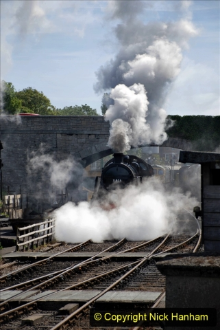 2020-07-18 First Steam Trains in Purbeck since Lockdown with U 31806. (97) 097