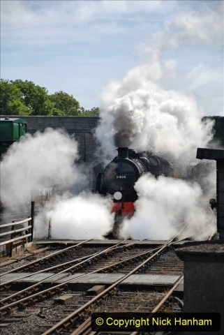 2020-07-18 First Steam Trains in Purbeck since Lockdown with U 31806. (98) 098