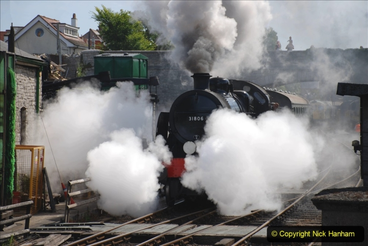 2020-07-18 First Steam Trains in Purbeck since Lockdown with U 31806. (99) 099