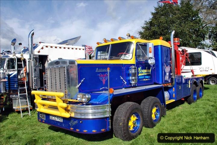 2020-09-05 Truckfest South West 2020 at Shepton Mallet. (180) A rare 8 legger American truck. 180