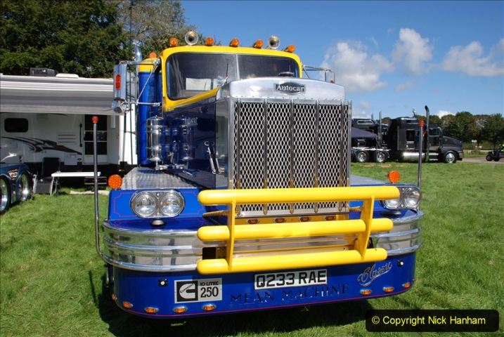 2020-09-05 Truckfest South West 2020 at Shepton Mallet. (181) A rare 8 legger American truck. 181