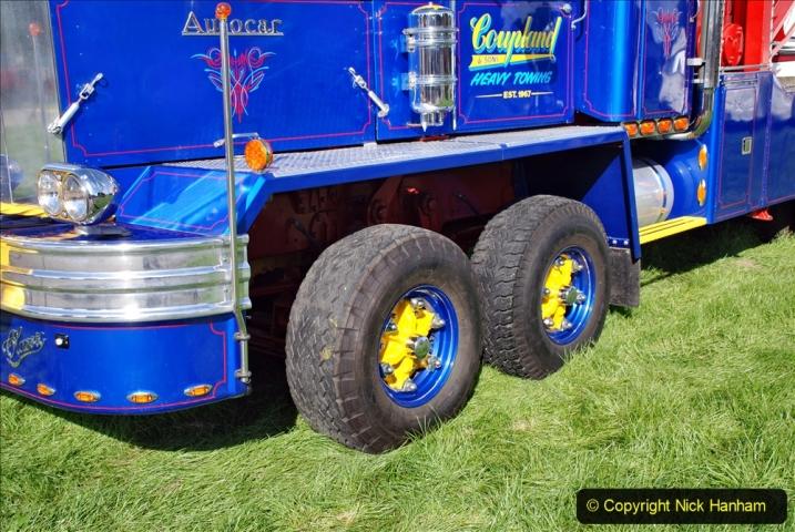 2020-09-05 Truckfest South West 2020 at Shepton Mallet. (184) A rare 8 legger American truck. 184