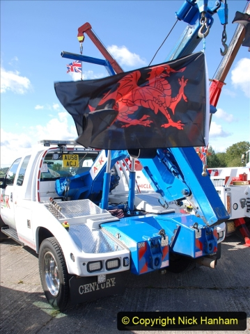 2020-09-05 Truckfest South West 2020 at Shepton Mallet. (350) American left hand drive wrecker. 350