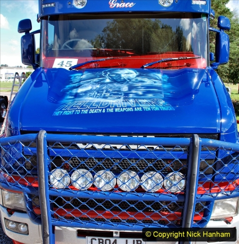 2020-09-05 Truckfest South West 2020 at Shepton Mallet. (438) Art work remembering the film Hell Drivers. 438