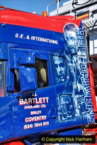 2020-09-05 Truckfest South West 2020 at Shepton Mallet. (440) Art work remembering the film Hell Drivers. 440