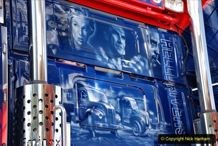 2020-09-05 Truckfest South West 2020 at Shepton Mallet. (443) Art work remembering the film Hell Drivers. 443