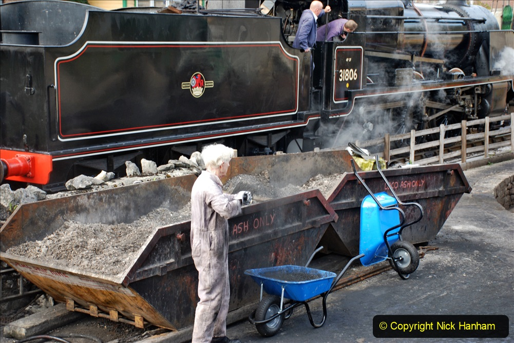 2020-09-10 Swanage & Corfe Castle plus ticket printing machine maintenance. at CC. (23) 023