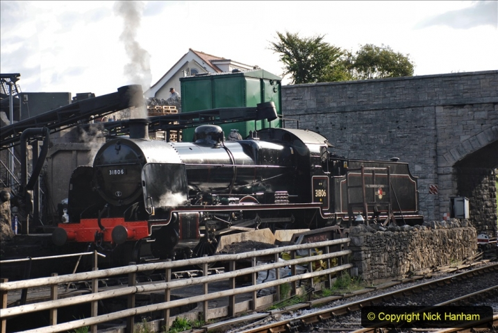 2020-09-10 Swanage & Corfe Castle plus ticket printing machine maintenance. at CC. (1) 001