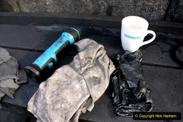 2020-09-10 Swanage & Corfe Castle plus ticket printing machine maintenance. at CC. (22) 022