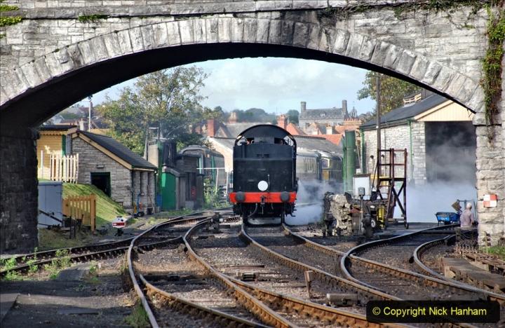 2020-09-10 Swanage & Corfe Castle plus ticket printing machine maintenance. at CC. (32) 032