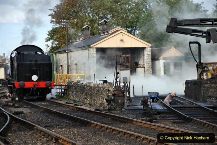 2020-09-10 Swanage & Corfe Castle plus ticket printing machine maintenance. at CC. (34) 034