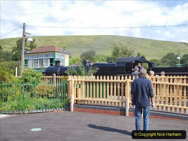 2020-09-10 Swanage & Corfe Castle plus ticket printing machine maintenance. at CC. (42) 042