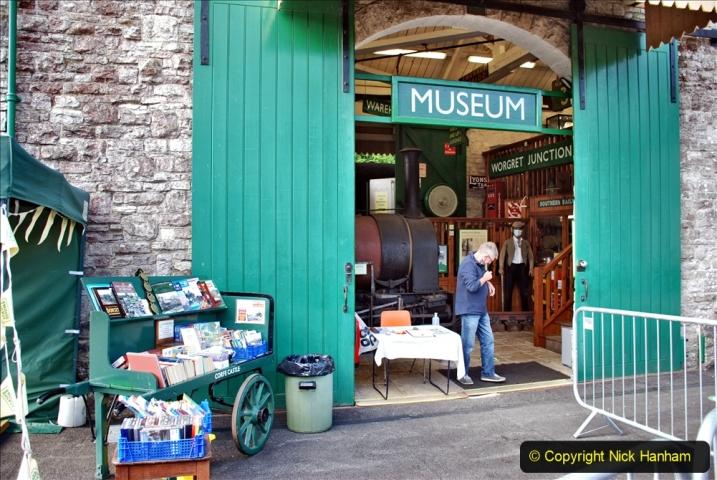 2020-09-10 Swanage & Corfe Castle plus ticket printing machine maintenance. at CC. (43) 043