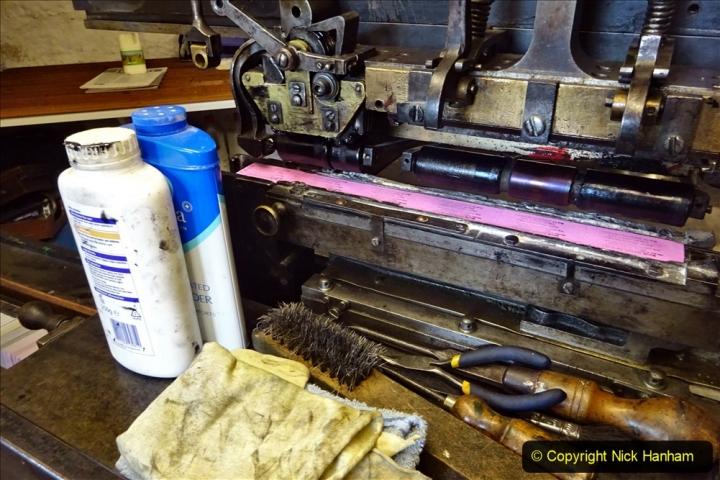 2020-09-10 Swanage & Corfe Castle plus ticket printing machine maintenance. at CC. (52) 052