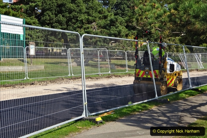 Covid 19 Walk. By bus to Poole and walk home. (64) Poole Park improvements. 064