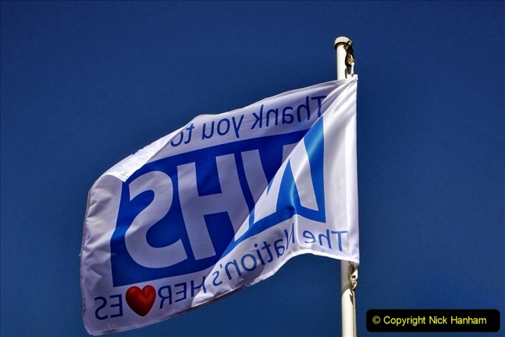 2020-09-11 Flag in support of NHS staff during Covid 19. (2) 373