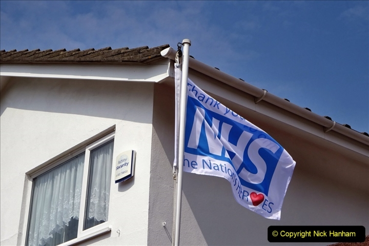2020-09-11 Flag in support of NHS staff during Covid 19. (4) 375