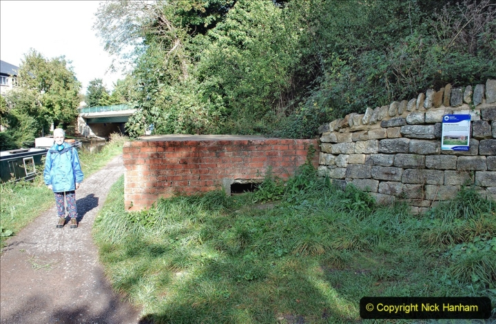 2020-10-01 Covid 19 Visit to The Kennet & Avon Canal in the Bradford on Avon area, Wiltshire. (29)  WW2 canal defence. 029