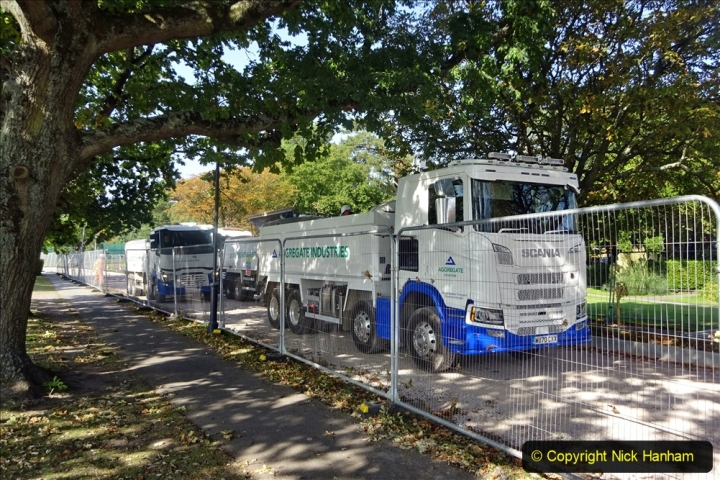 2020-09-17 Poole Park road work, Poole, Dorset. (3) 009