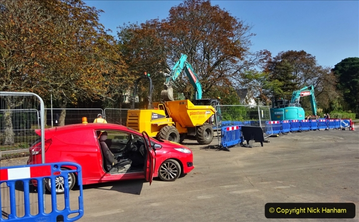 2020-09-17 Poole Park road work, Poole, Dorset. (4) 010