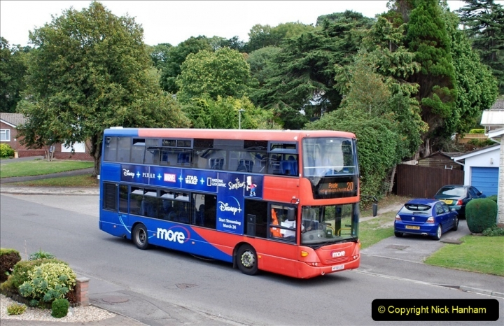 2020-09-16 Route 20 Poole, Dorset. (3) Various buses. 073