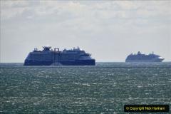 2020-09-25 Poole Bay. (9) Celebrity Apex & Explorer of the Seas. 9