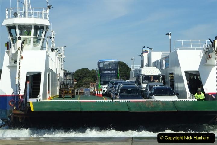 2020 03 23 Sandbanks Ferry crossing from Studland to Sandbanks and shipping (11) 076