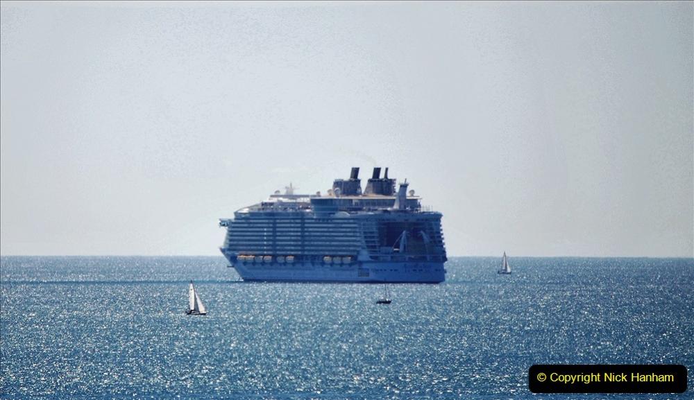2020-07-29 Poole Bay, Dorset. (2) Royal Caribbean Allure of the Seas. 132