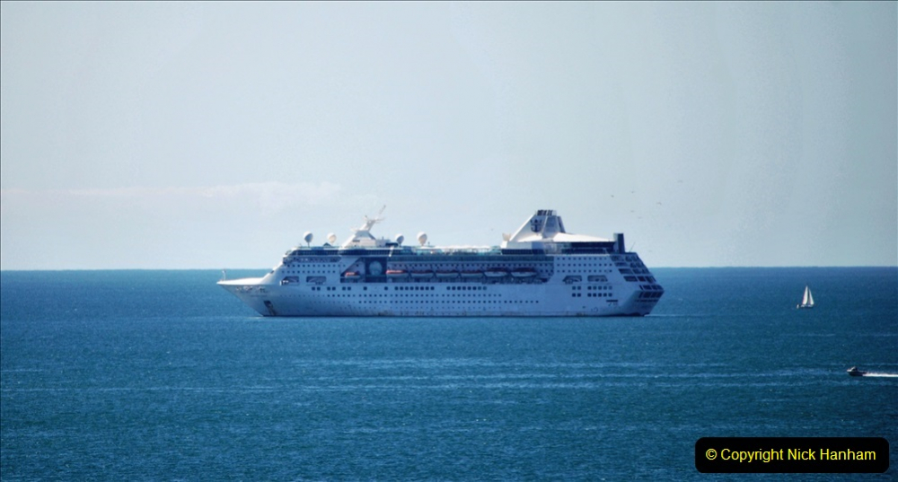 2020-07-29 Poole Bay, Dorset. (3) Royal Caribbean Enchantment of the Seas. 133