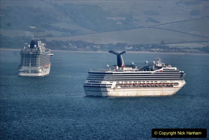 2020-08-10 Cruise ships in Weymouth Bay. (10) Carnival Valor. 143
