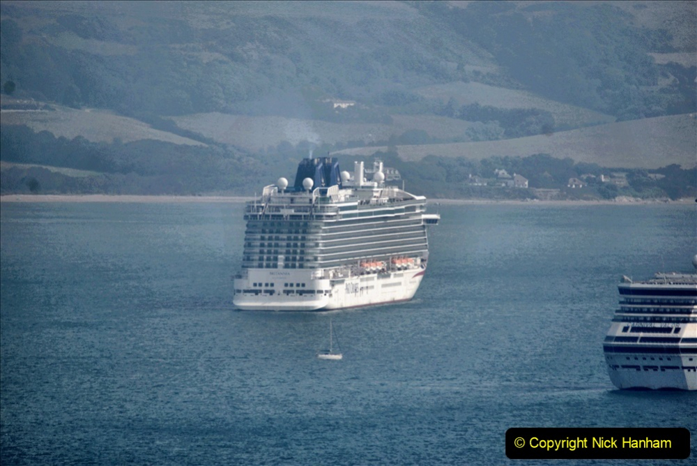 2020-08-10 Cruise ships in Weymouth Bay. (11) P&O Britannia. 144