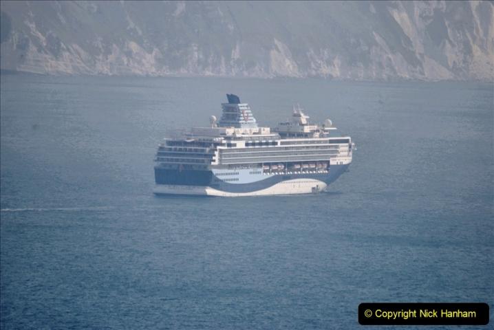 2020-08-10 Cruise ships in Weymouth Bay. (19) Marella Explorer. 152