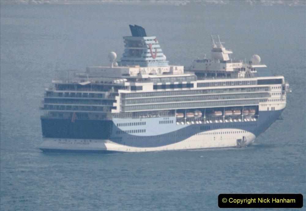 2020-08-10 Cruise ships in Weymouth Bay. (20) Marella Explorer. 153