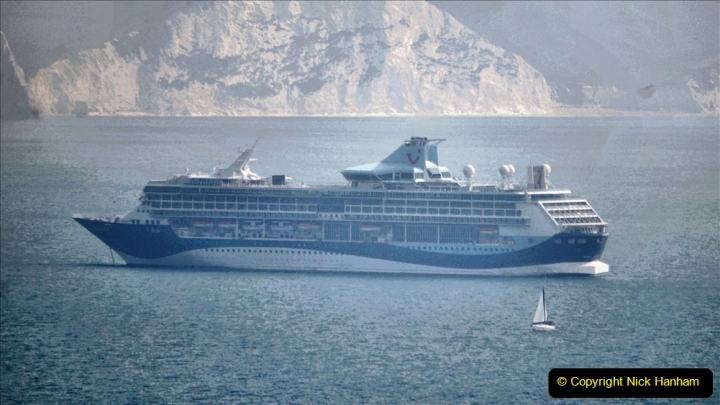 2020-08-10 Cruise ships in Weymouth Bay. (21) Marella Discovery. 154