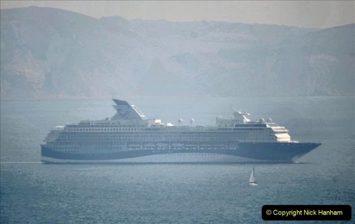 2020-08-10 Cruise ships in Weymouth Bay. (23) Marella Explorer 2. 156