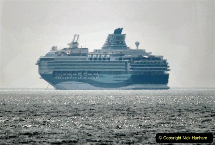 2020-08-10 Cruise ships in Weymouth Bay. (25) Marella Explorer 2. 157