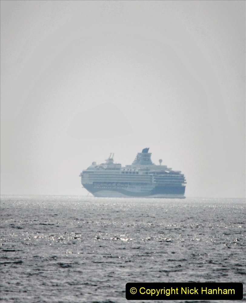 2020-08-10 Cruise ships in Weymouth Bay. (26) Marella Explorer 2. 158