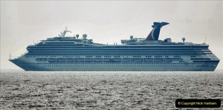 2020-08-10 Cruise ships in Weymouth Bay. (27) Carnival Valor. 159