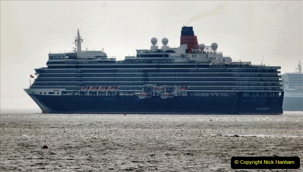 2020-08-10 Cruise ships in Weymouth Bay. (31) Queen Elizabeth 3. 163